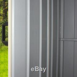 New 8x4ft Abri De Jardin En Métal Robuste En Acier Sheds Outils Maison De Bonne Qualité