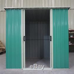 Nnew Metal 6 X 4 Steel Hangars Outils De Jardin De Stockage De Jardin En Plein Air Remise 6ft X 4ft