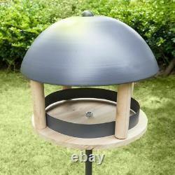 Nordic Style Wild Bird House Feeder Garden Nut Fall Ball Seed Tray Feeding Roof