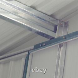 Nouveau Metal Garden Shed Apex Roof 10x8ft Storage House Tool Sheds With Free Base