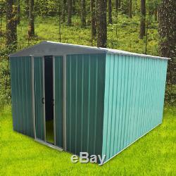 Nouveau Organisateur De Stockage En Abri De Jardin En Métal De 10 X 8ft Apex Roof Avec Fondation Gratuite
