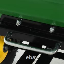 Outsunny 125l Garden Cart Trolley Dump Wheelbarrow Trailer Camion 4 Roues