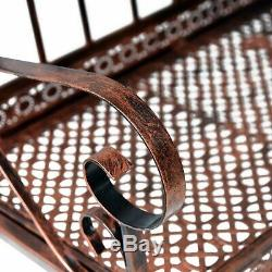 Outsunny 2 Places De Jardin En Métal Banc Rocking Chair Bronze Love Seat
