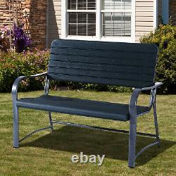 Outsunny 2 Seater Garden Bench Outdoor Porch Meubles Patio Love Chaise De Siège