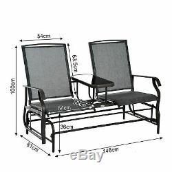 Outsunny 2 Seater Rocker Double Fauteuil À Bascule Chaise D'extérieur Meubles De Jardin
