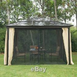 Outsunny 3 MX 3,6 M En Métal Gazebo Canopy Patio Chapiteau Tente De Réception Jardin Extérieur