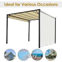 Outsunny 3 X 3m Garden Party Gazebo En Métal Auvent Tente Soleil Abri Couverture Canopy