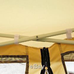 Outsunny 3 X 3m Gazebo Canopy Pop Up Tente Mesh Écran Jardin Extérieur Ombre Mesh