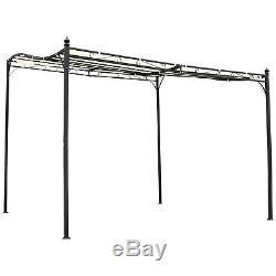 Outsunny 3 X 3m Murale Auvent Gratuit Stand Canopy Ombre Jardin Porche Pergola