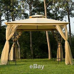 Outsunny 3 X 3m Patio Jardin Gazebo En Métal Chapiteau Tente Canopy Pavillon Shelter