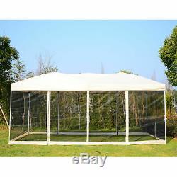 Outsunny 3 X 6 M Jardin Patio Gazebo Mariage Pop-up Tente Pare-soleil Ombre