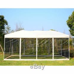 Outsunny 3 X 6 M Jardin Patio Gazebo Mariage Tente De Fête Tente Canopée Ombre Du Soleil