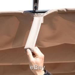 Outsunny 3m X 3m Pergola Gazebo Auvent En Aluminium