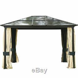 Outsunny 3x3.6m Aluminium Gazebo Patio Chapiteau Canopy Tente D'extérieur Jardin