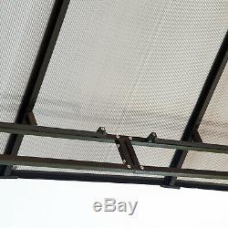 Outsunny 3x3.6m Pavillon De Jardin Gazebo En Métal Tente Pare-soleil Ombre Marquee