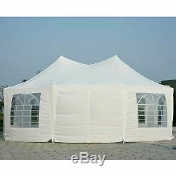 Outsunny 6,8 X 5m Jardin Octogonal Belvédère Tente De Mariage Heavy Duty Marquee