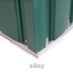 Outsunny 6x4ft Boîte À Outils En Métal Vert