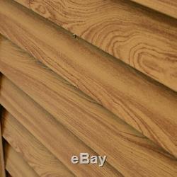 Outsunny 6x5ft Cabanon En Bois Effet Maison De Stockage Porte Coulissante Woodgrain