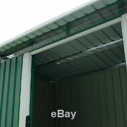 Outsunny 8 X 4ft Hangar De Jardin En Métal Stockage Extérieur Boîte À Outils Organisateur