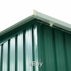 Outsunny 8x6ft Hangar De Jardin En Métal Maison De Rangement Extérieur Outil Résistant Outil