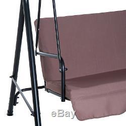 Outsunny De Jardin En Métal Balancelle 3 Seater Hammock Patio Canopy Banc Lounger