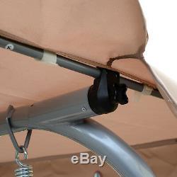 Outsunny De Jardin En Métal Balancelle Patio Hamac 3 Seater Réglable Banc Canopy
