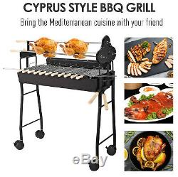Outsunny Jardin Extérieur Barbecue Au Charbon Barbecue Chariot De Cuisine Grill Poudre Roue