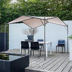 Outsunny Jardin Extérieur Pavillon Gazebo Auvent Tente Pare-soleil En Acier 3.5x3.5 M