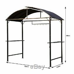 Outsunny Métal Fumeurs Jardin Gazebo Patio Bbq Tente Grill Canopy Auvent Abri