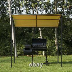 Outsunny Metal Wall Gazebo Marquee Garden Patio Barbecue Grill Canopy Abri Auvent