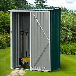 Outsunny Steel Garden Storage Shed Jardin Tabouret Stockage Vert De Toit Incliné