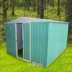 Panana Metal Garden Shed Storage 2 Door Foundation Toit Base Libre Base Extérieur