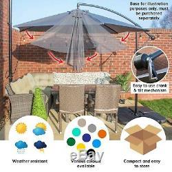 Parasol 3m Autoportant Banana Hanging Cantilever Jardin & Patio Parasol