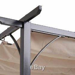 Patio En Aluminium Pergola Gazebo Soleil Shade Rectangle Awing Pour Jardin Extérieur 3x3m