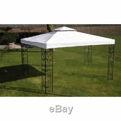 Pavillon De Tente De Réception Avec Chapiteau De Jardin Extérieur Vidaxl Gazebo, Blanc, 3 X 4 M