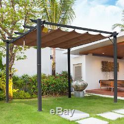 Pergola Gazebo Auvent Pare-soleil Abat-jour Abri Aluminium 3m X 3m Garden