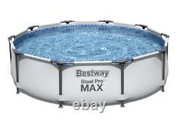 Piscine Bestway 21in1 366cm 12ft Garden Round Frame Pool + Pump + Ladder