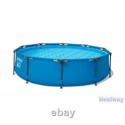 Piscine Bestway 305 CM 10ft Garden Round Frame Above Ground Pool Steel Pro