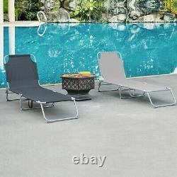 Pliable Réglable Bain De Soleil Retour Repos Chaise De Jardin Relaxer Patio Textilene