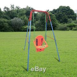 Pliant Bébé Tout-petits Balançoire Sécurité Chair Set Kids Play Fun Garden Jardin Uk