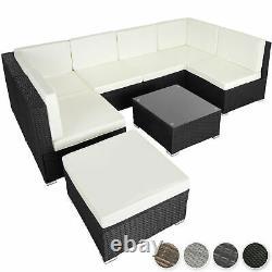 Poly Rattan Garden Meubles Lounge Set Seater Table Wicker Patio Balcon Nouveau