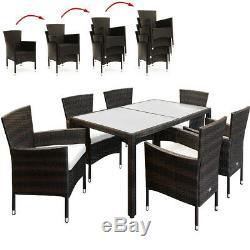 Poly Rotin Conservatoire Salle À Manger Meubles Table Chaises En Plein Air De Jardin En Osier Nouveau