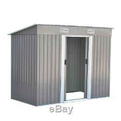 Porte Coulissante 8x4ft De Toit En Terrasse De Hangar De Jardin En Métal Avec La Base
