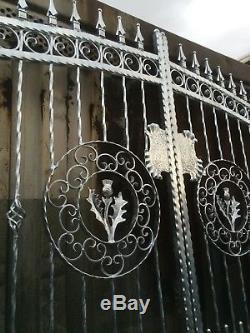 Porte De Jardin De Portes D'allée, Porte En Métal, Porte En Métal De Fer Forgé 105