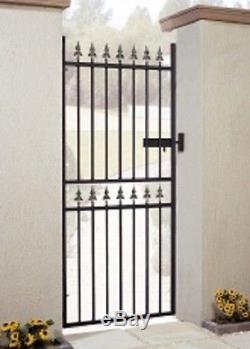 Porte De Jardin En Métal En Fer Forgé Castle Tall 2ft6-3ft4