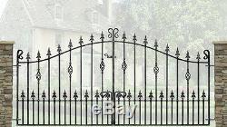 Portes D'entrée En Alliage De Jardin En Fer Forgé Et En Métal Forgé-10ft (3048mm) Ouverture-wi-c