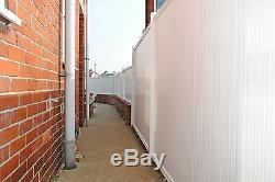 Pvc Panneaux De Clôture En Plastique Avec Poteaux Renforcés Avec Profil De Jardin En Métal Escrime