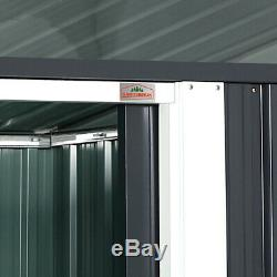 Range-tout En Métal Organisateur De Rangement Extérieur Porte Coulissante 2m², Base Windows