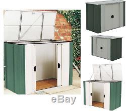 Rangement De Jardin En Métal Hangar À Vélos Boîte Extérieure Outils De Cabinet De Garage Patio Cour Jardin