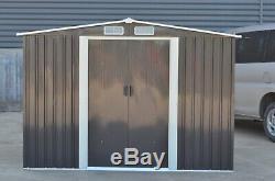 Rangement Extérieur De House10x8 De Hangar De Jardin En Métal Hangar D'outil Avec La Base Libre